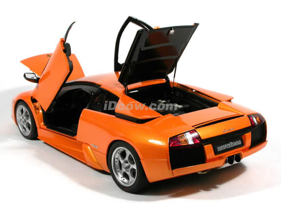 2002 Lamborghini Murcielago diecast model car 1:12 scale die cast by AUTOart - Orange