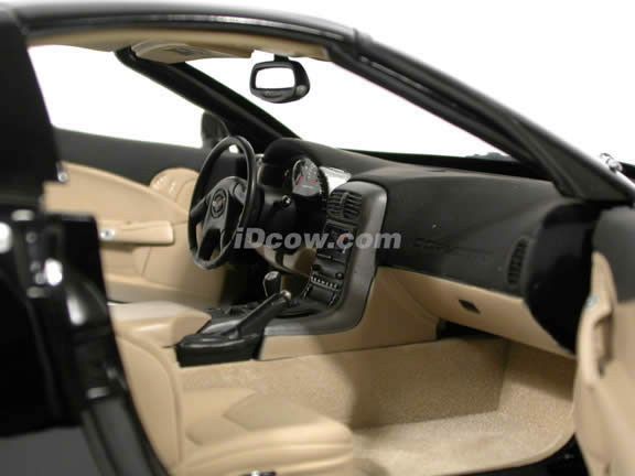 2005 Chevrolet Corvette C6 Coupe diecast model car 1:12 scale die cast by Hot Wheels - Black