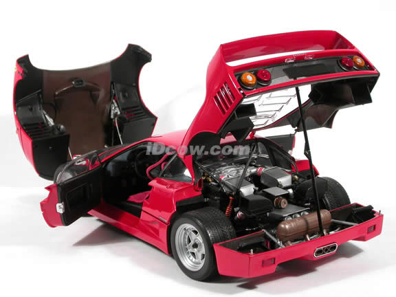 1989 Ferrari F40 diecast model car 1:12 scale die cast by Kyosho - Red