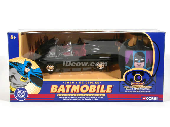 1960 DC Comics Batmobile diecast model car 1:24 scale die cast by Corgi - with Batcommunicator