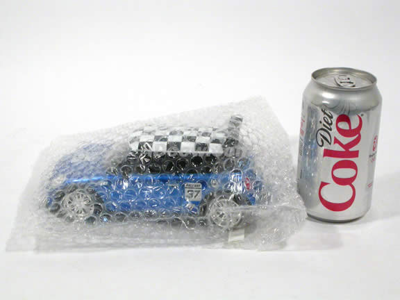 2007 Mini Cooper S diecast model car 1:24 scale die cast by Jada Toys - Blue Racing