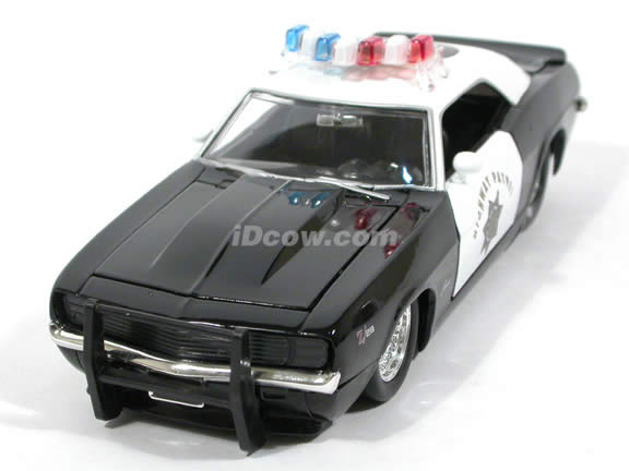 1969 Chevy Camaro Police diecast model car 1:24 scale die cast by Jada Toys - 91397