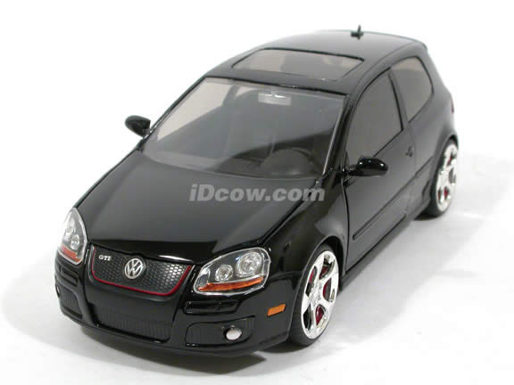 2007 Volkswagen Golf GTI diecast model car 1:24 scale MK5 by Jada Toys - Black 91544
