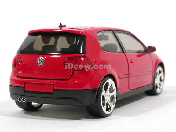 2007 Volkswagen Golf GTI diecast model car 1:24 scale MK5 by Jada Toys - Red 91544