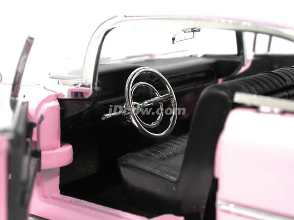 1959 Cadillac Coupe De Ville diecast model car 1:24 scale die cast by Jada Toys - Pink 50660