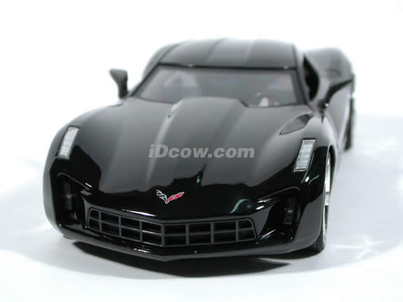 2009 Corvette Stingray diecast model car 1:24 scale die cast by Jada Toys - Black