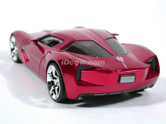 2009 Corvette Stingray diecast model car 1:24 scale die cast by Jada Toys - Metallic Red