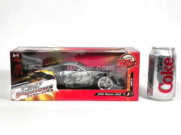2006 Nissan 350Z Fast and Furious 3 diecast model car 1:20 scale die cast by Ertl - 37459