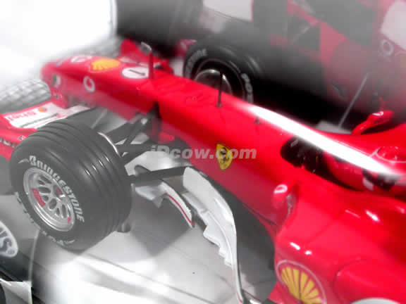 2005 Ferrari Formula One F1 #1 Michael Schumacher diecast model race car 1:24 die cast by Hot Wheels - J7520
