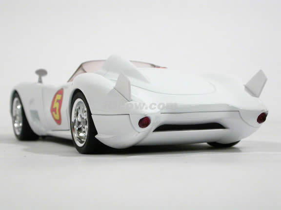 2008 Speed Racer Mach 5 diecast model car 1:24 scale die cast by Hot Wheels - Movie Version M5978