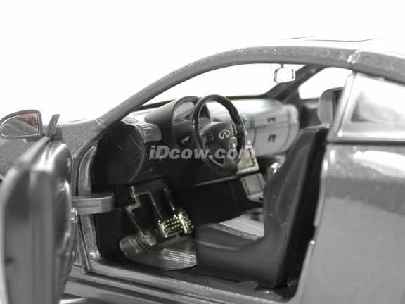 2005 Infiniti G35 diecast model car 1:24 scale die cast by Jada Toys - Metallic Grey 90287