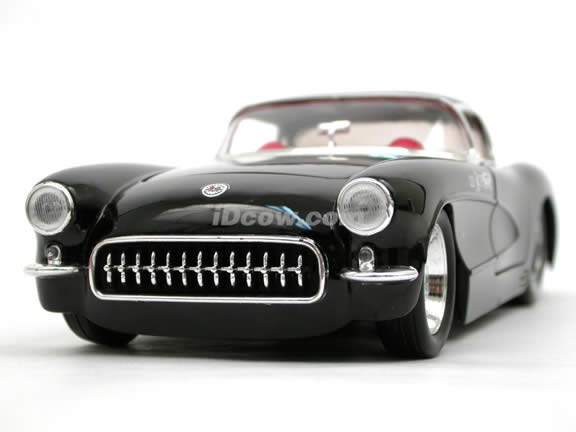 1957 Chevy Corvette diecast model car 1:24 scale die cast by Jada Toys - Black 90934