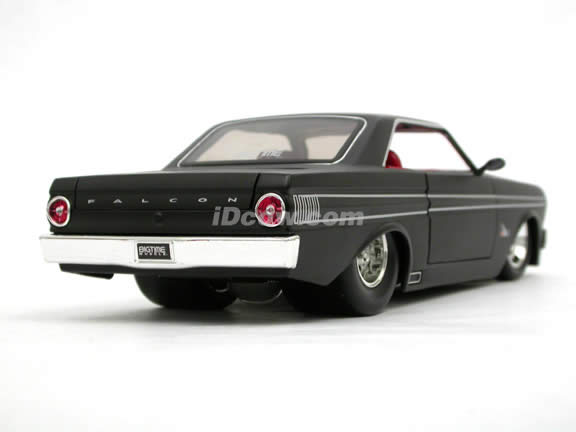 1964 Ford Falcon diecast model car 1:24 scale die cast by Jada Toys - Flat Black 90749