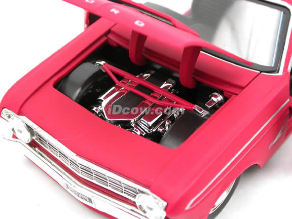 1964 Ford Falcon diecast model car 1:24 scale die cast by Jada Toys - Flat Red 90749