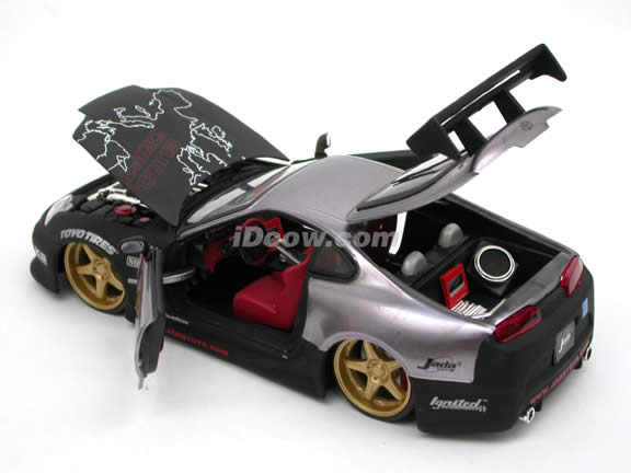 1995 Toyota Supra diecast model car 1:24 scale die cast by Jada Toys - Metallic Purple 91171