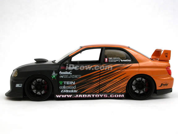 2006 Subaru Impreza WRX STi diecast model car 1:24 scale die cast by Jada Toys Option D - Orange 91774