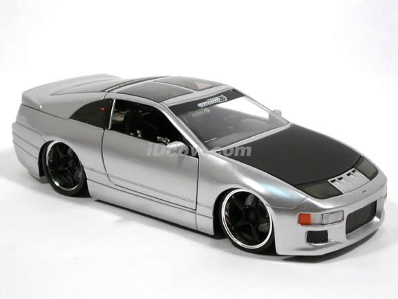 1990 Nissan 300ZX diecast model car 1:24 scale die cast by Jada Toys Option D - Silver 90619