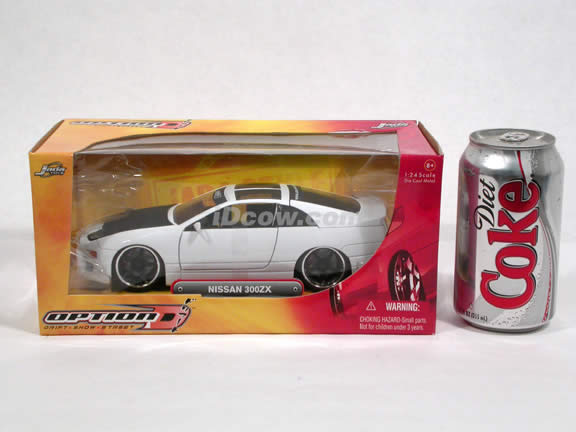 1990 Nissan 300ZX diecast model car 1:24 scale die cast by Jada Toys Option D - White 90619