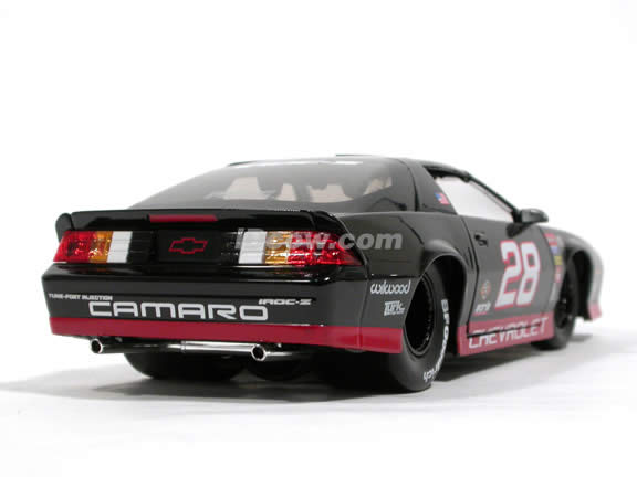1985 Chevy Camaro IROC-Z #28 diecast model car 1:24 scale die cast by Jada Toys - Black 91445