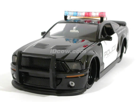 2007 Shelby GT-500 Police Car diecast model car 1:24 scale die cast by Jada Toys - 91836