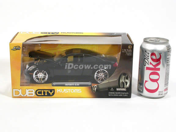 2005 Infiniti G35 diecast model car 1:24 scale die cast by Jada Toys - Black 53007