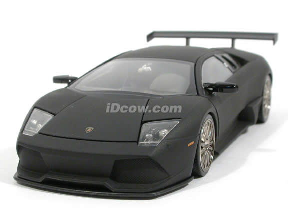 2008 Lamborghini Murcielago LP640 diecast model car 1:24 scale die cast by Jada Toys - Flat Black 92081