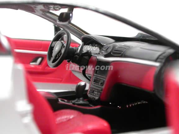 2008 Maserati Gran Turismo diecast model car 1:24 scale die cast by Bburago - Silver 24036