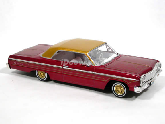 1964 Chevy Impala SS Hardtop diecast model car 1:25 scale by Revell - Lowrider Red 4969