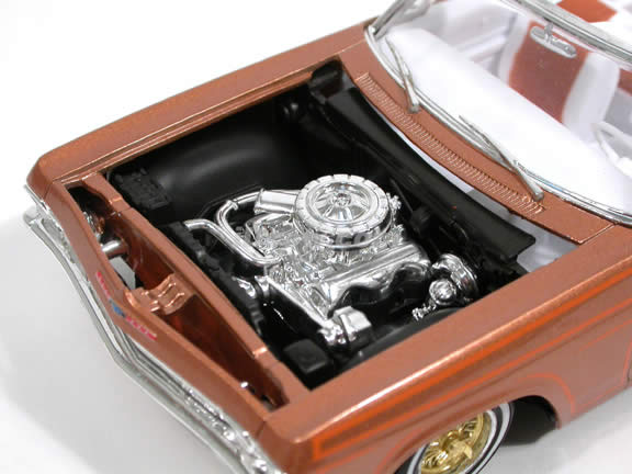 1965 Chevy Impala SS Convertible diecast model car 1:25 scale by Revell - Lowrider Copper 4970