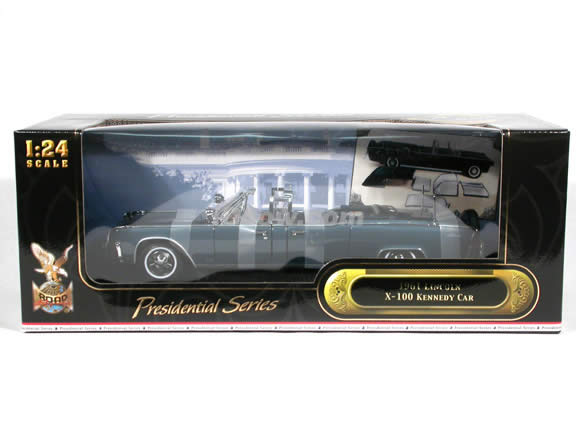1961 Lincoln X-100 Kennedy Presidential Limo diecast model car 1:24 scale die cast by Yat Ming