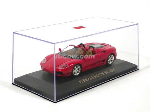 2000 Ferrari 360 Spider diecast model car 1:43 scale die cast by ixo - Red