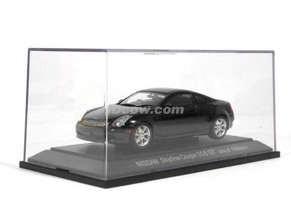 2004 Nissan Skyline Coupe 350 GT (Infiniti G35 Coupe) diecast model car 1:43 scale die cast by Ebbro - Black