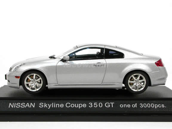 2004 Nissan Skyline Coupe 350 GT (Infiniti G35 Coupe) diecast model car 1:43 scale die cast by Ebbro - Silver