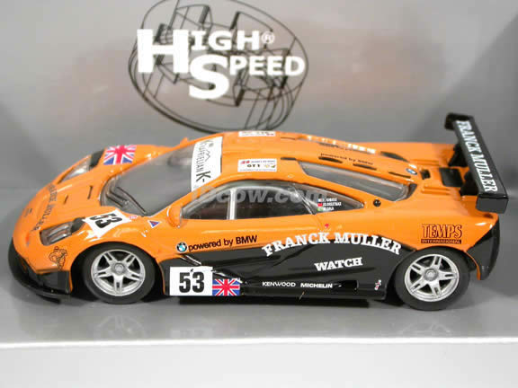 1995 McLaren F1 GTR #53 diecast model car 1:43 scale die cast by High Speed