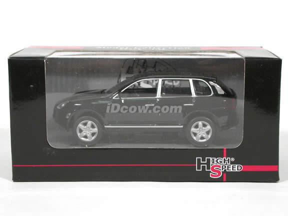 2002 Porsche Cayene Turbo diecast model car 1:43 scale die cast by High Speed - Black