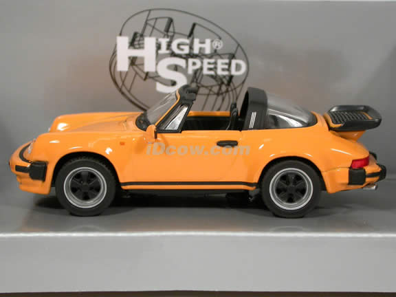 1988 Porsche 911 Targa Turbo diecast model car 1:43 scale die cast by High Speed - Yellow