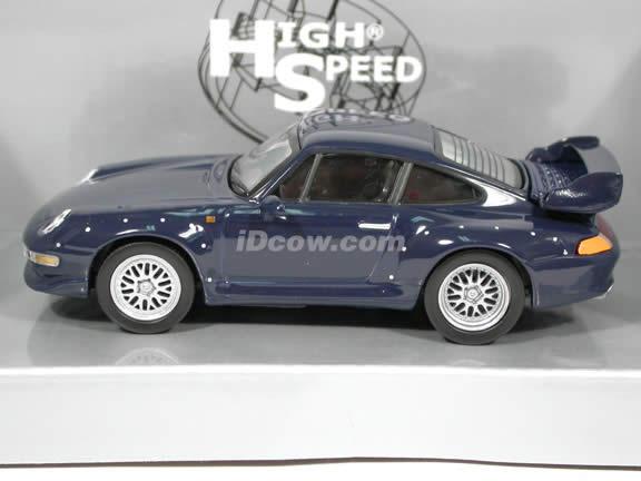 1996 Porsche 911 GT2 diecast model car 1:43 scale die cast by High Speed - Blue