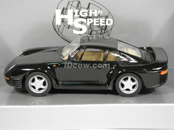 1985 Porsche 959 diecast model car 1:43 scale die cast by High Speed - Black