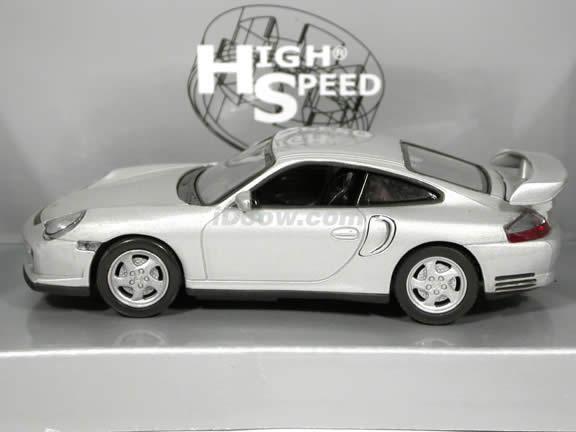 2000 Porsche 911 GT2 diecast model car 1:43 scale die cast by High Speed - Silver