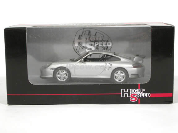2000 Porsche 911 GT2 diecast model car 1:43 scale die cast by High Speed - Silver