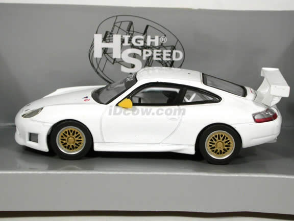 2000 Porsche GT3R diecast model car 1:43 scale die cast by High Speed - White