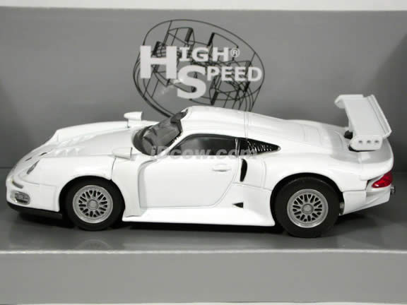 1995 Porsche GT1 diecast model car 1:43 scale die cast by High Speed - White