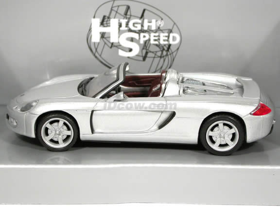 2004 Porsche Carrera GT Concept diecast model car 1:43 scale die cast by High Speed - Silver