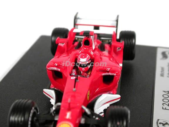 2004 Ferrari Formula One F1 Michael Schumacher diecast model car 1:43 scale die cast by Hot Wheels
