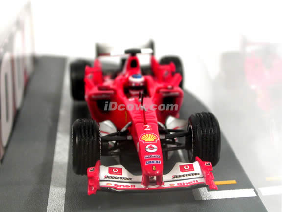2004 Ferrari Formula One F1 Michael Schumacher Hungaroring 8.15.2004 Dual Set diecast model cars 1:43 scale diecast by Hot Wheels - Red Limited Edition