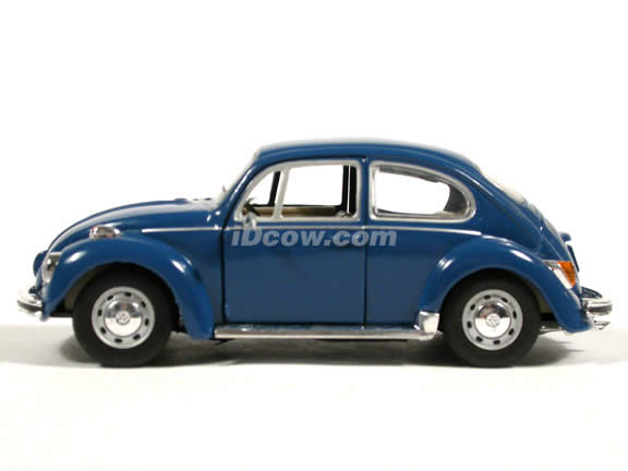 1970 Volkswagen Beetle diecast model car 1:43 scale die cast by Hongwell - Dark Blue