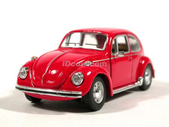 1970 Volkswagen Beetle diecast model car 1:43 scale die cast by Hongwell - Red