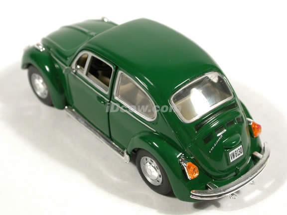 1970 Volkswagen Beetle diecast model car 1:43 scale die cast by Hongwell - Green