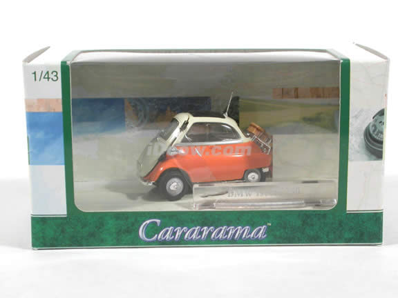 1958 BMW Isetta 250 diecast model car 1:43 scale die cast by Hongwell Cararama - Orange