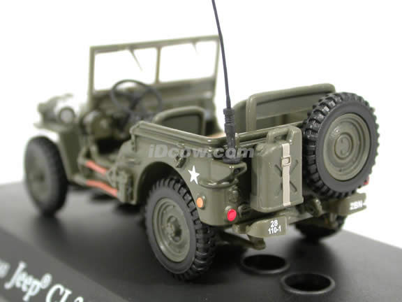 Jeep Willys World War II diecast model car 1:43 scale die cast by Hongwell Cararama